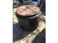 Bitumen melting pot with propane burner 25 gallon capacity