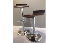 Two Height Adjustable Bar Stools
