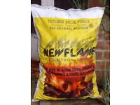 3 X LARGE 25KG BAGS OF SMOKELESS COAL BRIQUETTES .