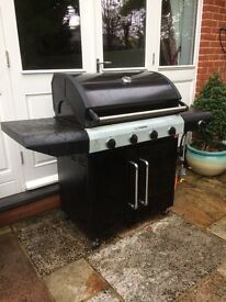 Large barbecue with gas stove