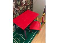 Children's desk table and chair
