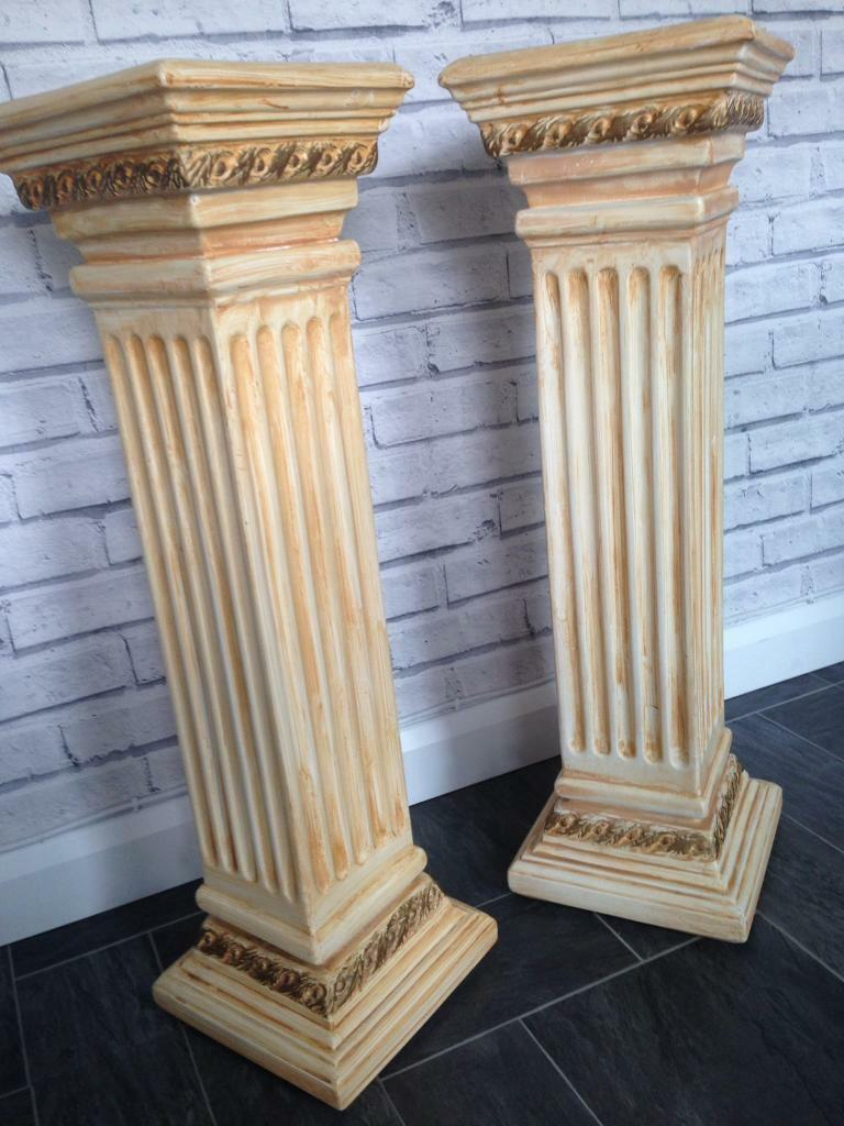 Pair Of Roman Pillars Columns Plant Stand Home Or