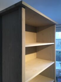 Pale Khaki Wood Bookcase Adjustable Shelves