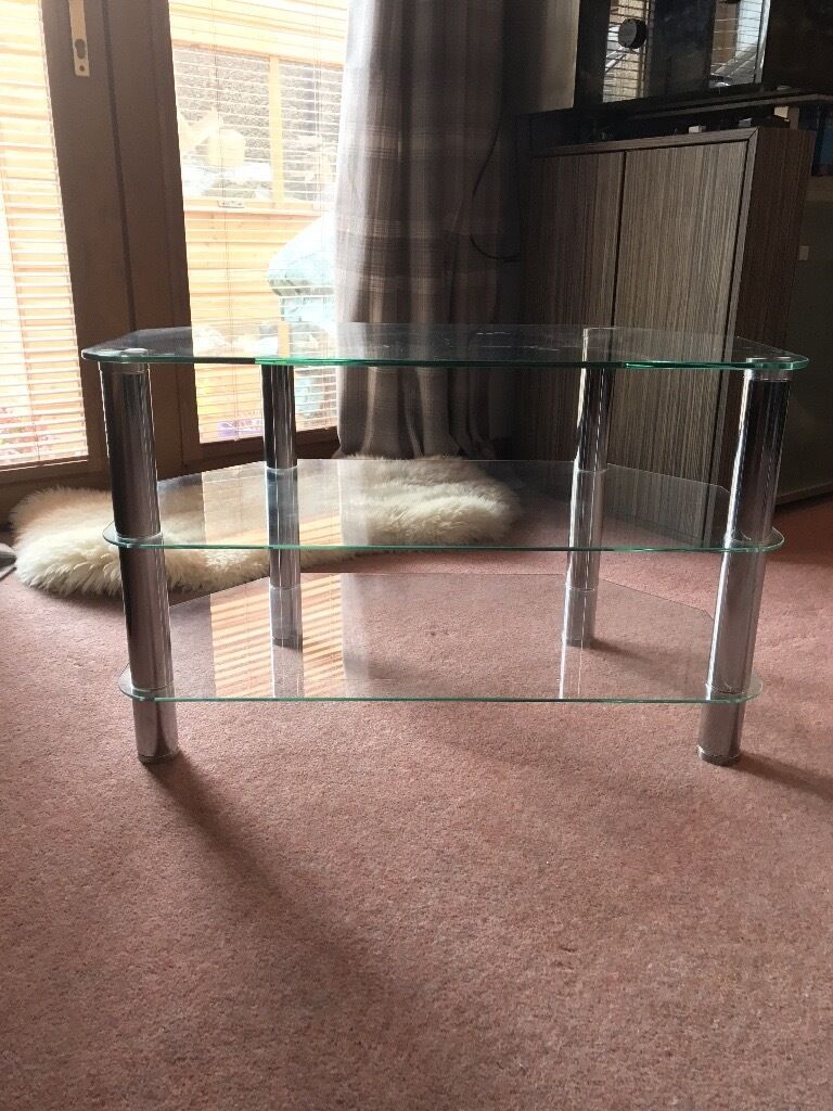TV glass unitin Elgin, MorayGumtree - 3 tier glass unit for TV in excellent condition. £25 ono