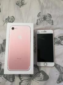 iPhone 7, rose gold, 32gb very good condition!