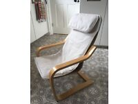 Children's Poang Chair (cream cushions with birch veneer)