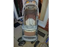 Pushchair with carseat and matching baby bag
