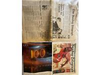 Some vintage newspapers