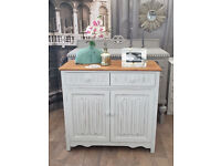 Shabby chic oak cabinet sideboard by Eclectivo