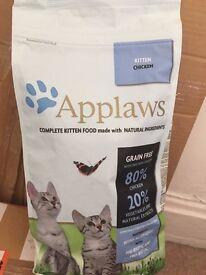 Unopened bag of Applaws kitten food