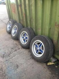 Capri laser alloy wheels (escort, fiesta mk1 mk2) 4x108