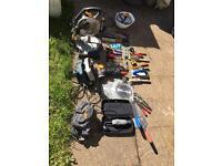 Tools - dremel, belt sander, circular saw, mitre saw and other tools
