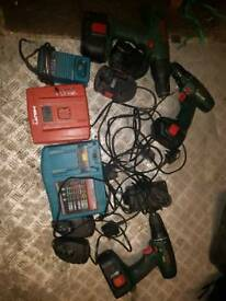 Selection of chargers and drills batteries dont hold charge very well