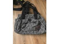 Kipling black brown white multicoloured bag in A1 condition