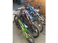 Children 20 inch bikes clean and ready to ride
