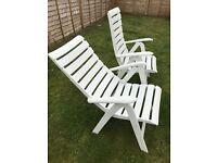 Garden chairs - Recliner arm chairs