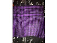 4 coloured houndstooth/checked square scarves
