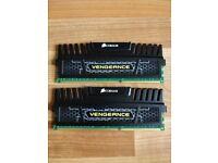 Corsair Vengeance 8GB RAM - 2x4gb - Great Condition
