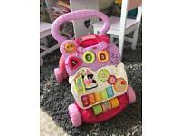 vtech baby walker and edu table