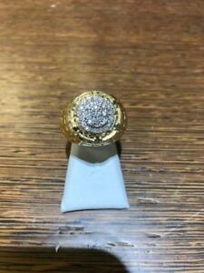 10kt Yellow Gold Mens Diamond Ring 0.50ct