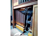 Large church pipe organ