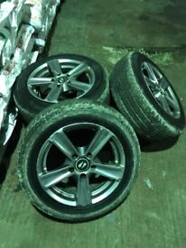 "Set off alloys 16"" good van tyres few marks nothing bad also good drivers seat fit vivaro traffic"