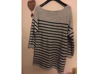 Brand new Asos curve Bardot jumper dress/long top size 18