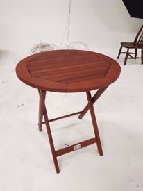 Round Wooden Bistro Table