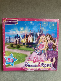 Barbie Princess and the Pop Star Book and Jigsaw Puzzle Set RRP £9.99