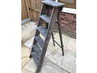 Wooden step ladders