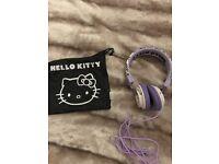 Hello Kitty Bubble Bow On Ear Headphones - Purple