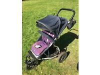 Mountain Buggy Urban Jungle stroller with lots of accessories inc carry cot