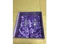 Edinburgh Crystal 2 champagne flutes in presentation box