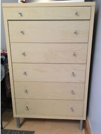Chest of drawers 5+1 small