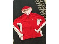 Size 14 red and white vintage puma track top