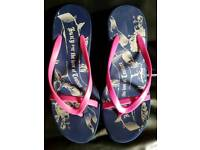 Brand New Ladies Juicy Couture Ladies Wedge Flip Flops - Size 6 ( 39 )