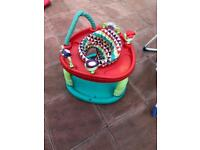 Baby swing play area walker