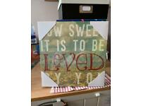 'How Sweet It Is' canvass wall art