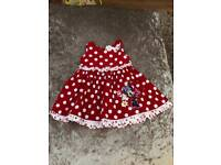 Disney Minnie Mouse red spotty dress, 3-6 Months