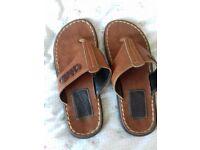 Dr. Martens leather flip flops size 8/ 42
