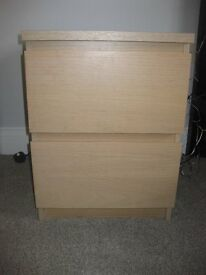 Ikea Bedside Drawers (MALM Range) - in very good condition