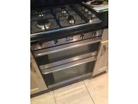 Smeg Integrated Built Under Double Oven, Gas Grill & Extractor Hood