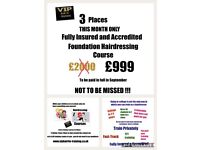 Hairdressing classes Foundation level normally £2000 September £999 limited spaces