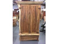 Wavy Java Wood Wardrobe