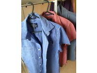 x 3 Superdry slim fit shirts in Blue, Red and Grey - Size Medium