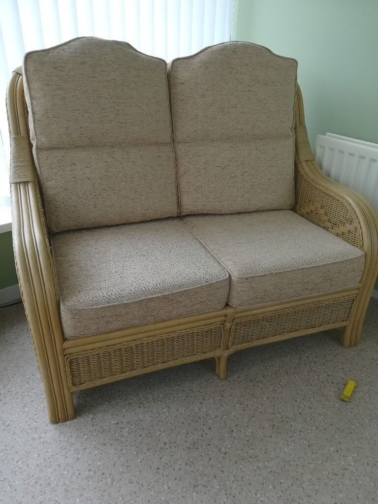 Cane sofa and armchairs