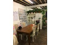 Beautiful solid wooden dining table or desk vintage / retro