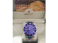 Rolex submariner blue face stainless steel new
