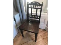 Vintage style solid wooden chair