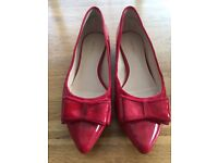 Nine West red patent shoes size 6